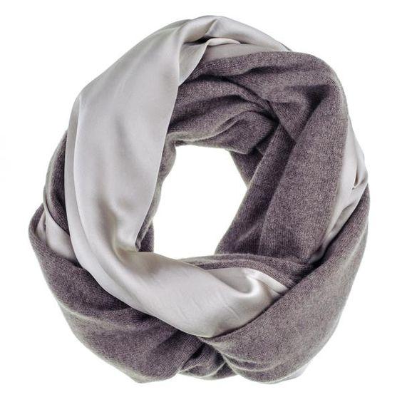 Silk and cashmere neck warmer. Details at une femme d'un certain age.