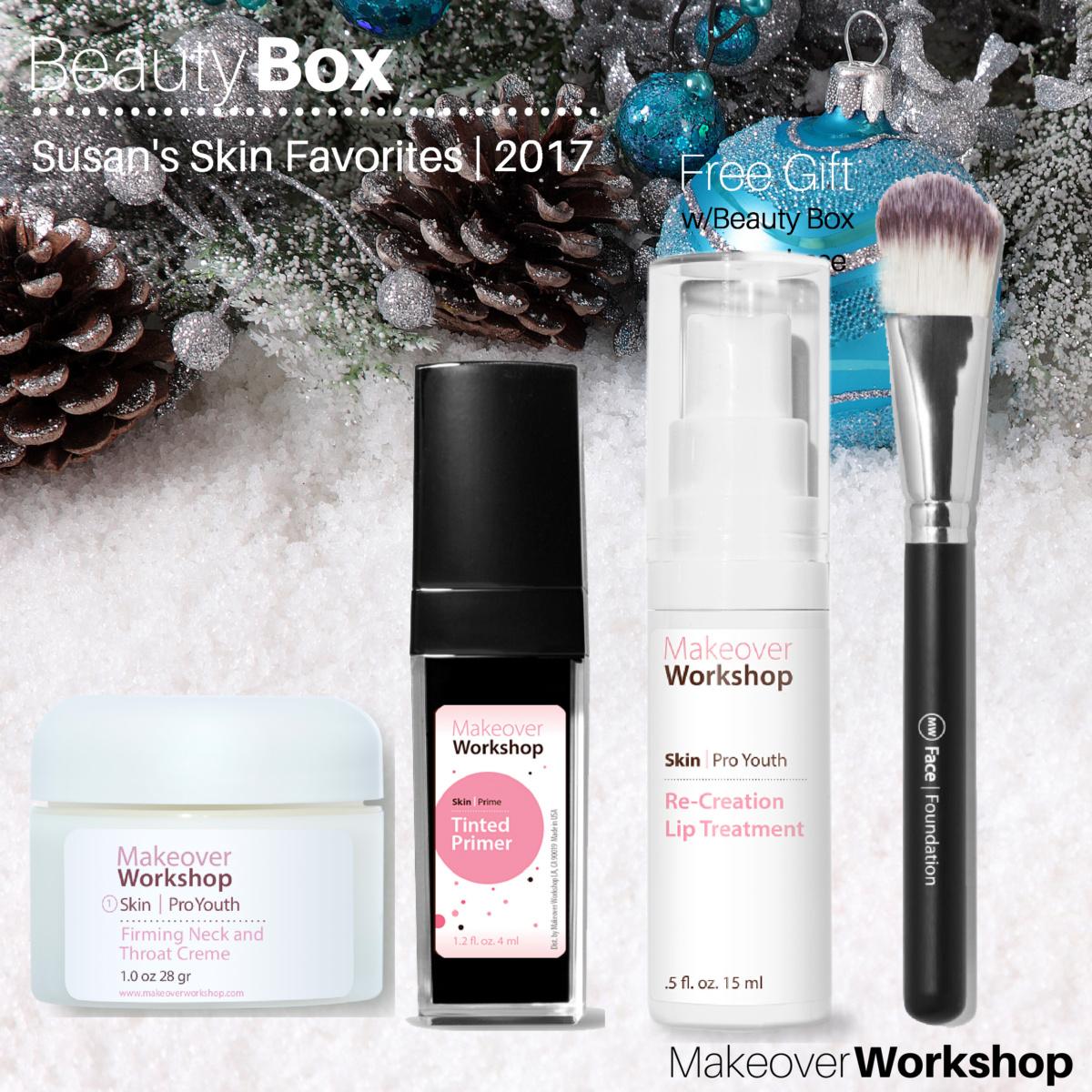 Susan B.'s favorite Makeover Workshop skin care products. Details at une femme d'un certain age.