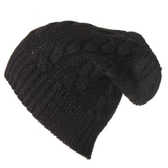 Slouchy cable-knit cashmere beanie. Details at une femme d'un certain age.
