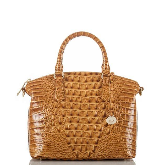 Brahmin croc-embossed bag in Amber. Details at une femme d'un certain age.