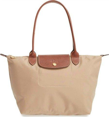 Longchamp le pliage nylon bag. Details at une femme d'un certain age.
