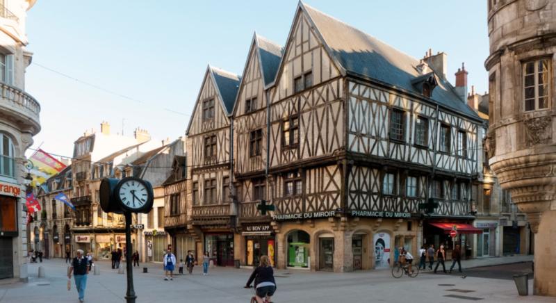 Historic buildings in Dijon, France