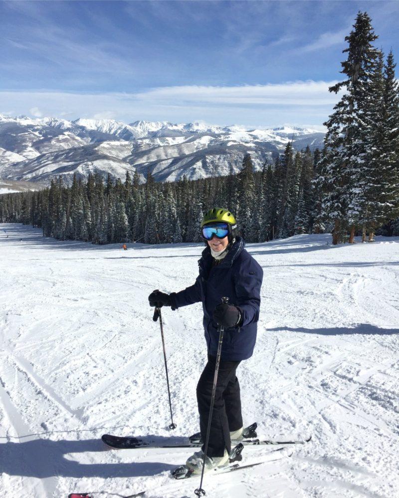 Blogger Susan B. skiing in Beaver Creek, CO. Details at une femme d'un certain age.