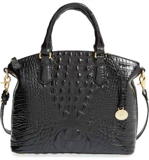Brahmin Duxbury satchel in black. Details at une femme d'un certain age.