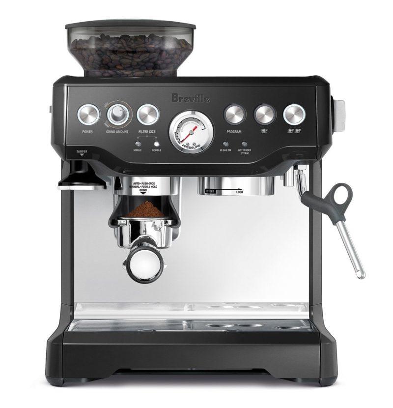 Breville Barista Express espresso machine. Details at une femme d'un certain age.