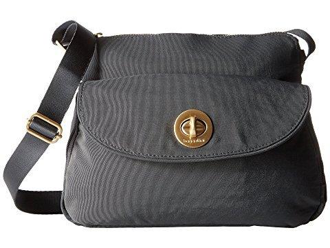 Baggallini charcoal grey crossbody travel bag. Details at une femme d'un certain age.