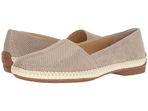 Paul Green Wisdom espadrille loafer, sand metallic. Details at une femme d'un certain age.