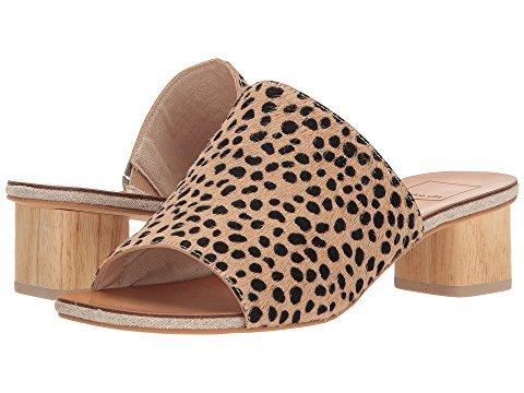 Cheetah print slide sandals. Details at une femme d'un certain age.