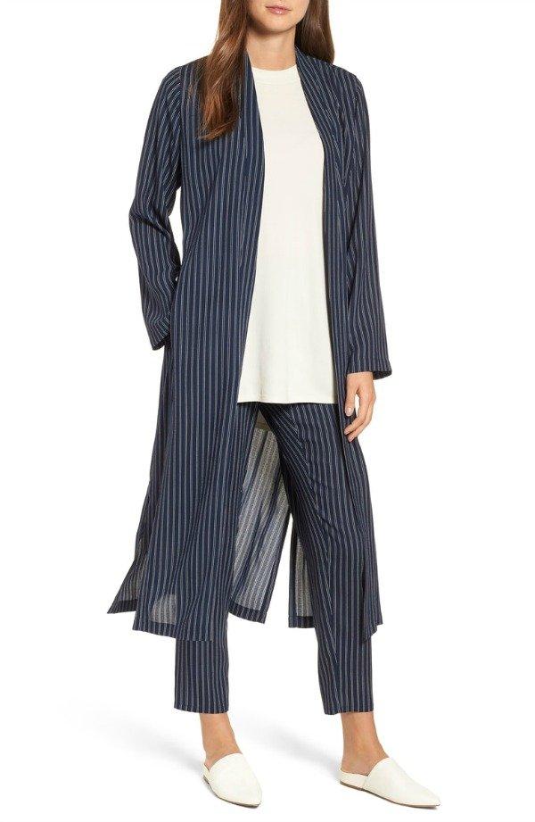 d44b7982e Eileen Fisher pinstripe long kimono jacket from Nordstrom Anniversary Sale.