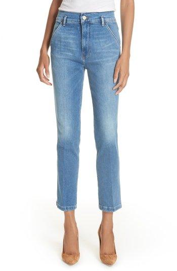 Frame Denim slender jeans from Nordstrom Anniversary Sale. Details at une femme d'un certain age.