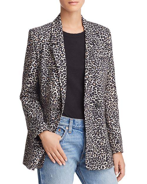 Anine Bing leopard print jacket. Details at une femme d'un certain age.