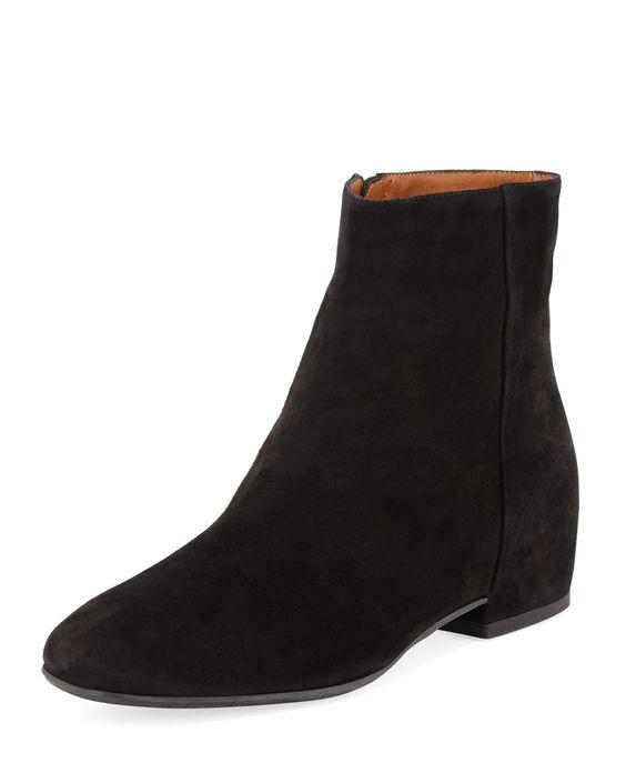 Aquatalia Ulyssa black suede boots. Details at une femme d'un certain age.