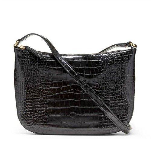 Vegan leather crocodile embossed bag from Banana Republic. Details at une femme d'un certain age.