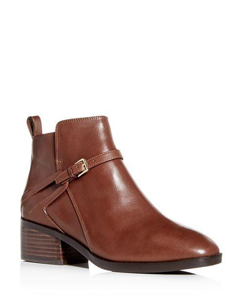 Cole Haan buckle ankle boots. Details at une femme d'un certain age.