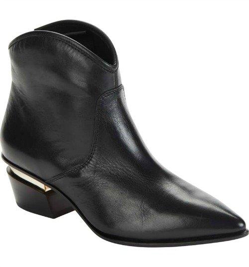 Donna Karan western-style bootie. Details at une femme d'un certain age.