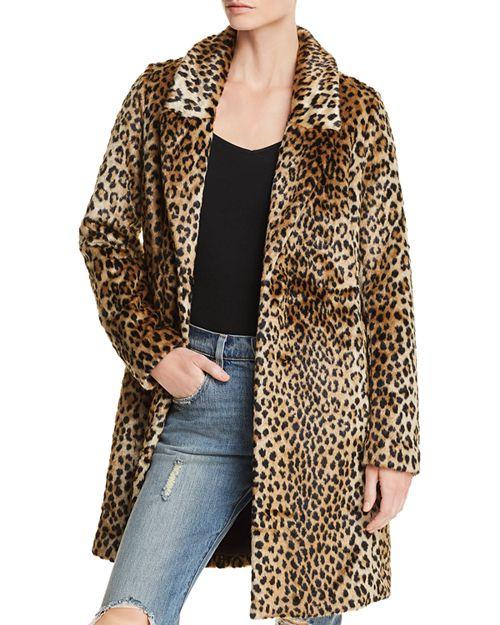 Aqua leopard print faux fur coat. Details at une femme d'un certain age.