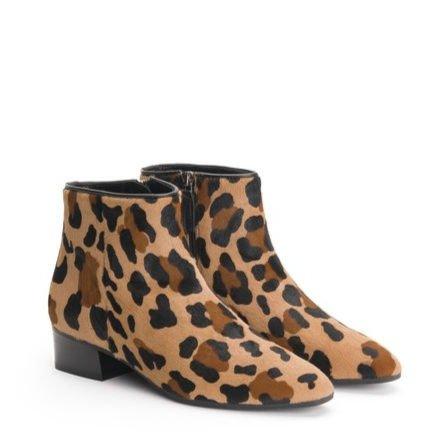 Aquatalia leopard print weatherproof booties. Details at une femme d'un certain age.