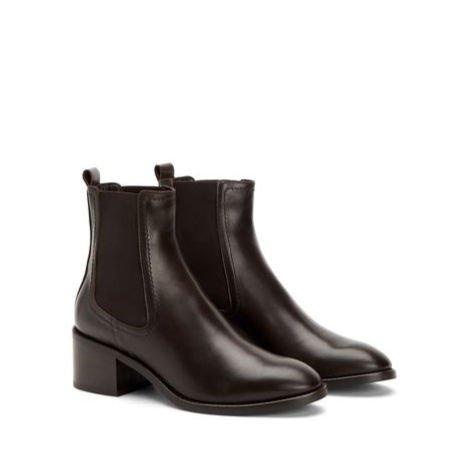 Aquatalia chelsea boots espresso leather. Details at une femme d'un certain age.