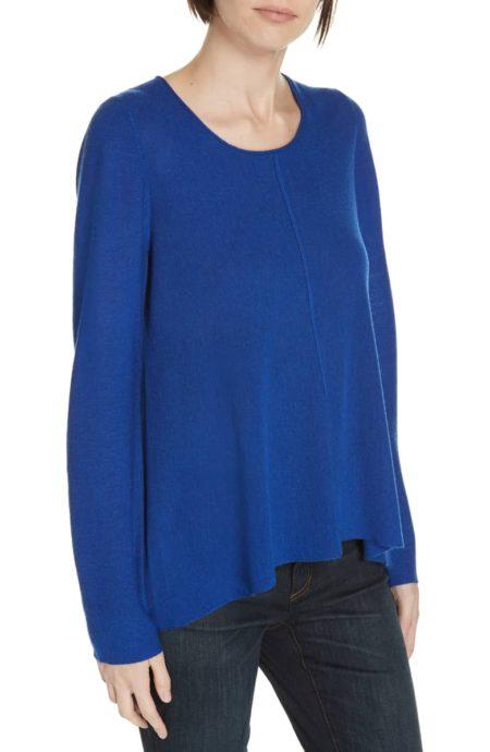 Eileen Fisher merino wool sweater royal blue
