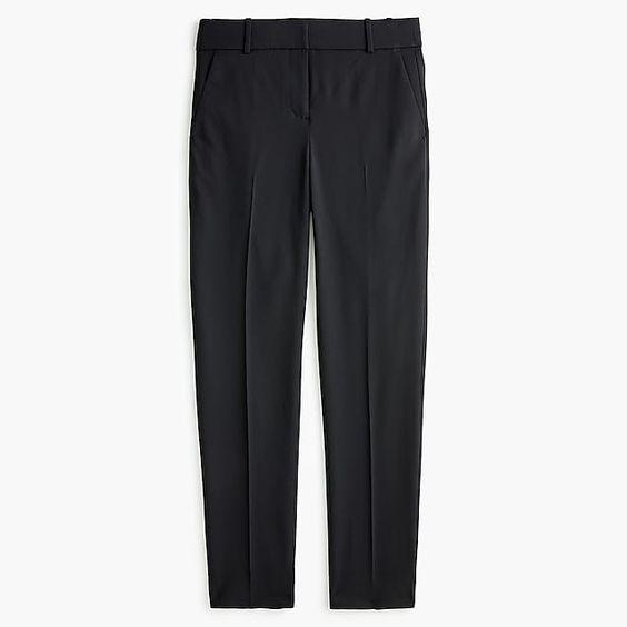 J.Crew Cameron wool pants in black. Details at une femme d'un certain age.