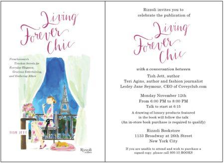 Tish Jett event Rizzoli bookstore. Details at une femme d'un certain age.