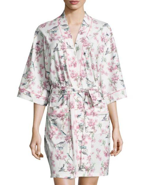 Bedhead kimono robe in toile floral print. More cotton bathrobes at une femme d'un certain age.