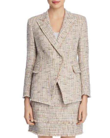 Elie Tahari tweed jacket. Details at une femme d'un certain age.