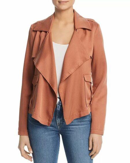 """Bagatelle draped utility jacket in """"cedar."""" Details at une femme d'un certain age."""