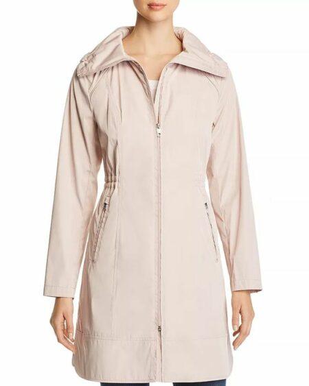 Cole Haan packable raincoat pale pink. Details and more packable raincoats at une femme d'un certain age.