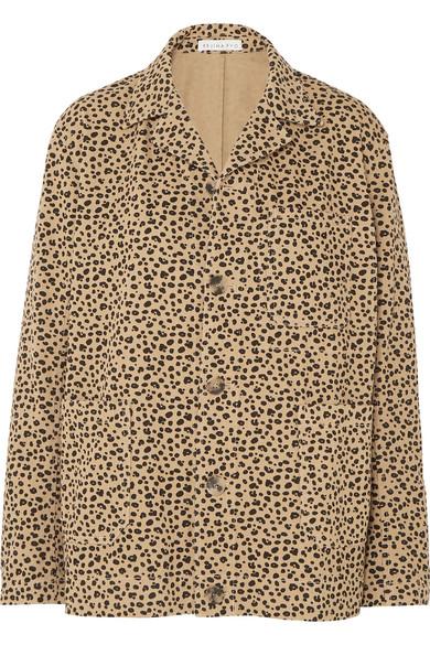 REJINA PYO leopard print chore jacket. Details at une femme d'un certain age.