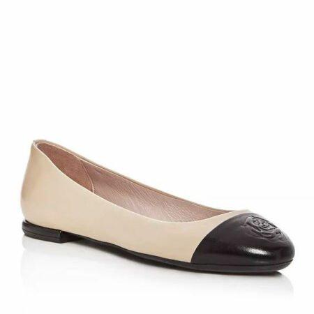 Taryn Rose cap toe ballet flats. Details at une femme d'un certain age.