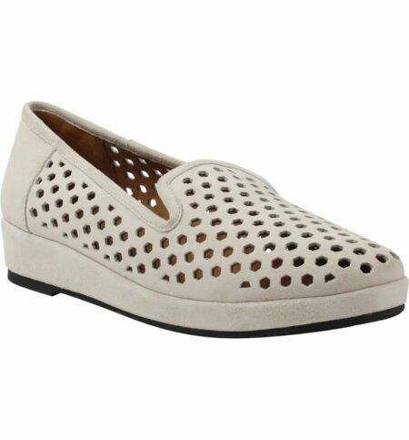 L'Amour des Pieds Clemence perforated loafer. Details at une femme d'un certain age.