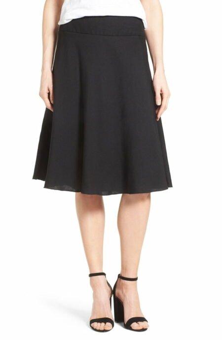 Nic & Zoe linen blend bias skirt. Details at une femme d'un certain age.