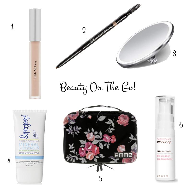 Susan B's favorite beauty products for travel. Details at une femme d'un certain age.