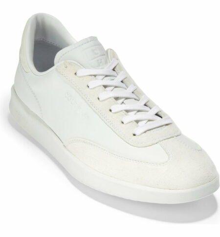 Cole Haan GrandPro Turf sneaker in white. Details at une femme d'un certain age.