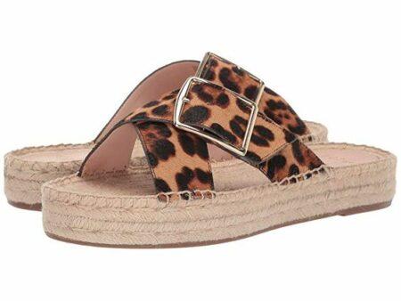 J.Crew leopard espadrille slides. Details at une femme d'un certain age.