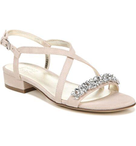 Naturalizer Macy jeweled sandals. Details at une femme d'un certain age.