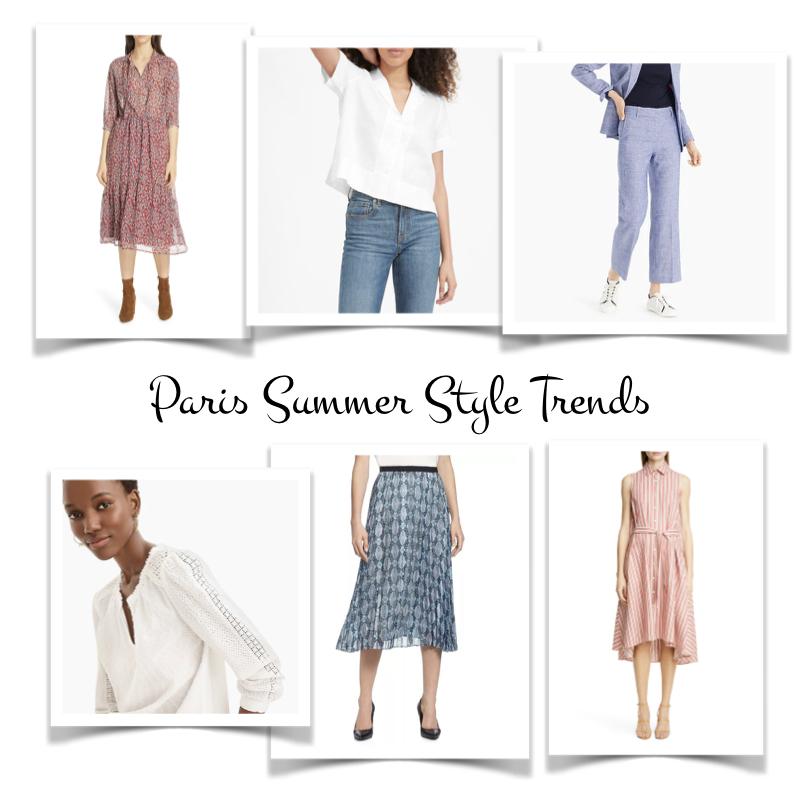 Paris summer style trends for 2019. How Parisians beat the heat! Details at une femme d'un certain age.