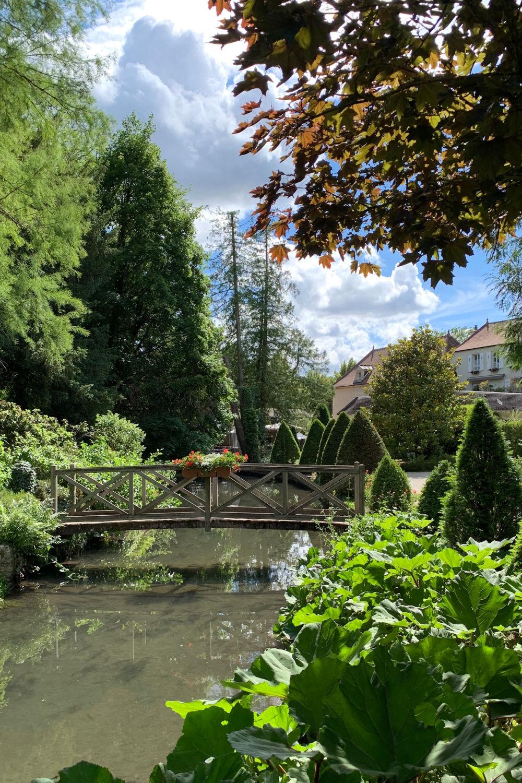 In the gardens at Hostellerie de Levernois, France. Details at une femme d'un certain age.