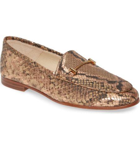 Sam Edelman Lior snakeprint loafers. Details at une femme d'un certain age.