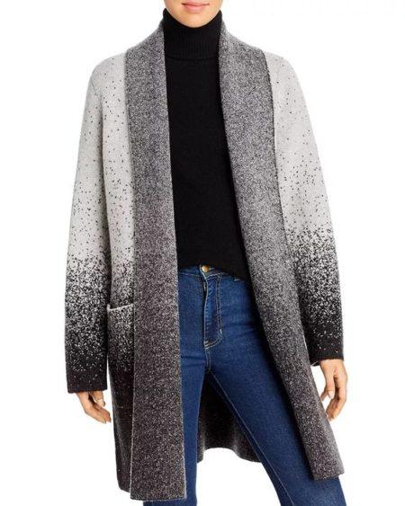 Donna Karan ombre sweater coat. Details at une femme d'un certain age.