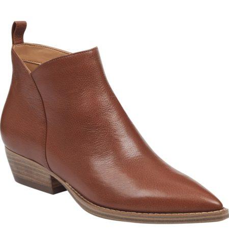 Marc Fisher Obarra leather booties. Details at une femme d'un certain age.