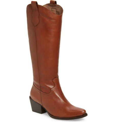 Wonders knee high western boot. Details at une femme d'un certain age.