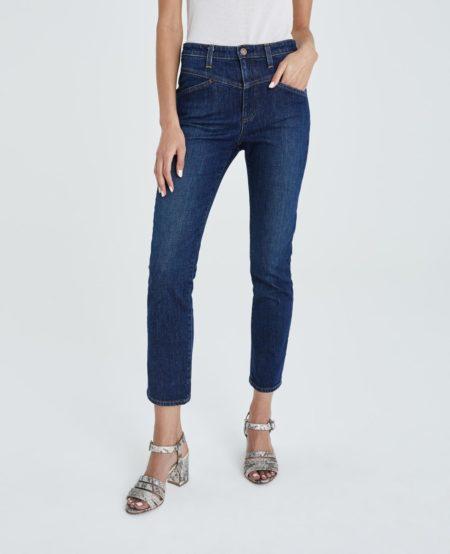 AG Isabelle straight leg cropped jeans. Details at une femme d'un certain age.