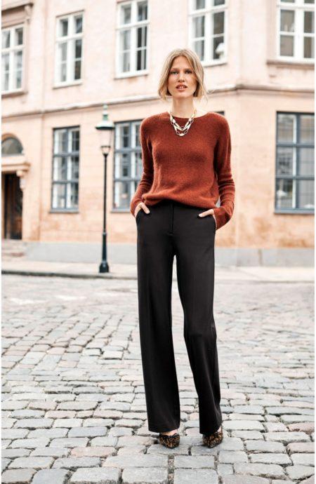 Boden wide leg ponte knit pants. Details at une femme d'un certain age.