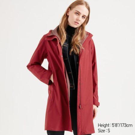 Uniqlo women's blocktech raincoat. Details at une femme d'un certain age.