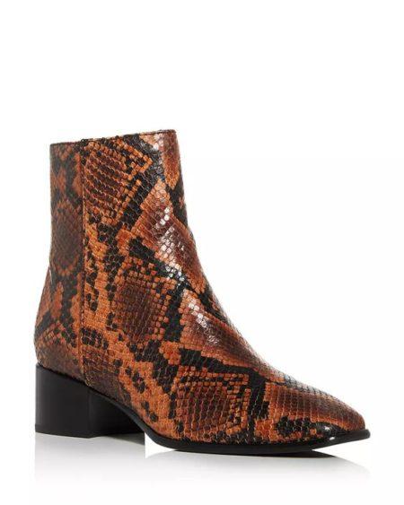 Rag & Bone snake print ankle boots. Details at une femme d'un certain age.
