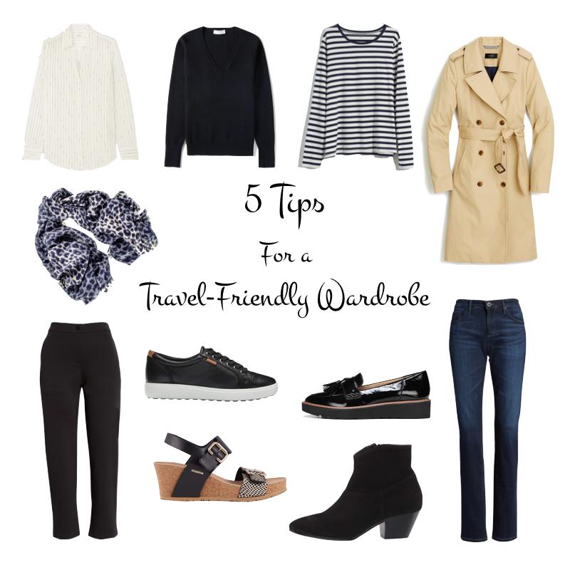 5 Tips for building a Travel-Friendly Wardrobe. Details at une femme d'un certain age.