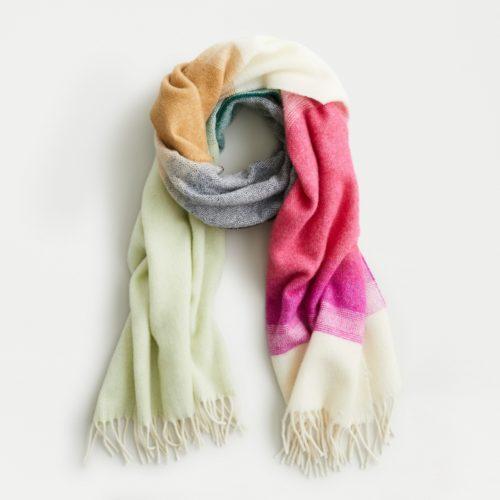 J.Crew ombré stripe scarf. Details at une femme d'um certain age.