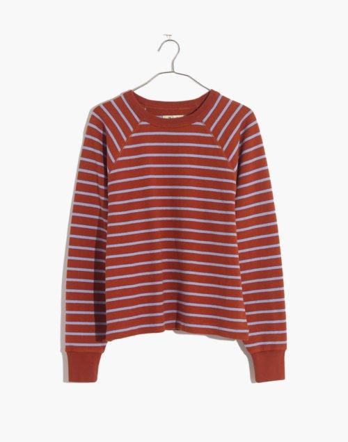Madewell striped sweatshirt. Details at une femme d'un certain age.
